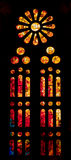 Fiery stained glass window Royalty Free Stock Photos