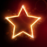 Fiery star frame Royalty Free Stock Photos