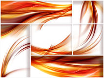 Fiery stripes. Collection of fiery stripes on white background Royalty Free Stock Photo