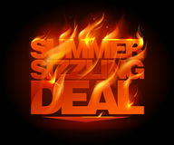 Fiery summer sizzling deal design. Stock Photo