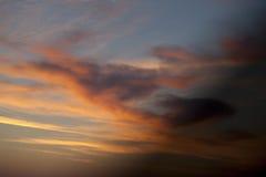 Fiery sunrise sky Stock Photo