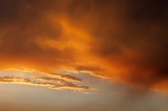 Fiery sunrise sky Royalty Free Stock Image