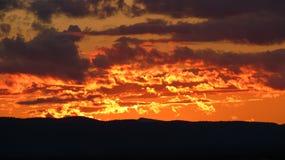 fiery sunset Στοκ εικόνες με δικαίωμα ελεύθερης χρήσης