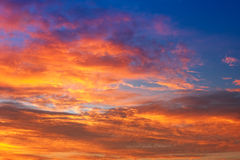 Fiery sunset Stock Photos