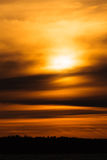 Fiery sunset background Royalty Free Stock Photo