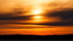 Fiery sunset background Royalty Free Stock Image