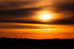 Fiery sunset background Stock Photos