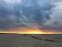 Fiery sunset on the beach. In South Australia Royalty Free Stock Images
