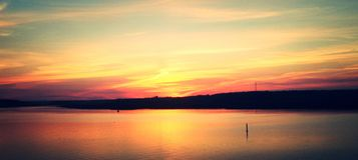 Fiery sunset Royalty Free Stock Photo