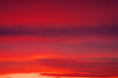 Fiery sunset sky. Stock Photo