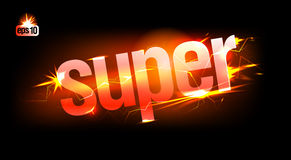 Fiery Super. Royalty Free Stock Photography