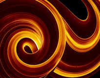 Fiery swirl of colour. A generated design of fire Royalty Free Stock Photos