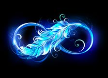 Free Fiery Symbol Of Infinity With Feather Stock Images - 162255934