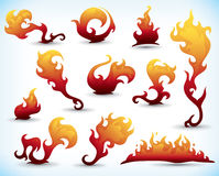 Fiery tattoos Royalty Free Stock Photos