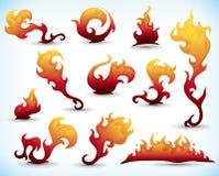Fiery tattoos Royalty Free Stock Photos