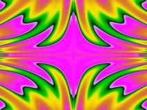 Fiery temper. Bright horizontally mirrored pattern shape Stock Photos