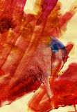 Fiery Textured Paint. Burning expression on rough-textured paper Royalty Free Stock Photos
