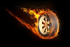 Fiery Tyre. Illustration of fire flame in tyre showing speed Stock Images