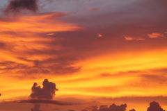 Fiery urban sunset Royalty Free Stock Photo