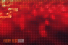 Fiery vector background. Fiery festival vector background with blurred lights made of tiny vector particles Royalty Free Stock Image