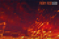 Fiery vector background. Fiery festival vector background with blurred lights made of tiny vector particles Stock Photo