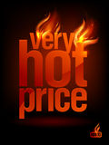 Fiery Very Hot Price, sale background. Royalty Free Stock Image