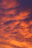 Fiery vivid sunset sky clouds Royalty Free Stock Images