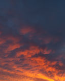 Fiery vivid sunset sky clouds Royalty Free Stock Image