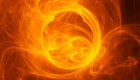 Fiery vortex. Abstract background. Fractal Stock Photo