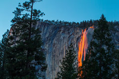 Fiery Waterfall Royalty Free Stock Photos