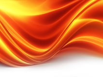 Fiery wave. Abstract background with glowing wave of fire Royalty Free Stock Photo