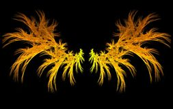 Fiery Wings. Fractal image of wings Royalty Free Stock Images