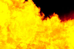 Fiery yellow background. Computer simulation of a bright flame Stock Image