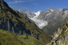 Fiesch Gletscher Lizenzfreies Stockfoto