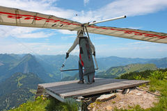 Fiesh Open-2011 hang gliding competitions Royalty Free Stock Photo