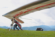 Fiesh Open-2011 hang gliding competitions Stock Photo