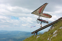 Fiesh Open-2011 hang gliding competitions Stock Photography