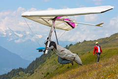 Fiesh Open-2011 hang gliding competitions Stock Photos
