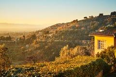 Fiesole blisko Florencja, Tuscany fotografia royalty free