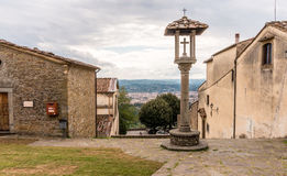 Fiesole, Italy. Panoramic view of Florence from monastery of S. Francesco in Fiesole. Tuscany, Italy Stock Photography