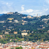 Fiesole town above Florence city Royalty Free Stock Images