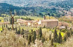 Fiesole, Tuscany, Italy. Scenic Skyline View of Fiesole. Tuscany, Italy Royalty Free Stock Photo
