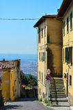Fiesole view on Florence, Italy stock photos