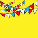 Fiesta  banner, card. Color flags, funny Stock Photo