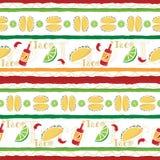 Fiesta colorida del taco stock de ilustración