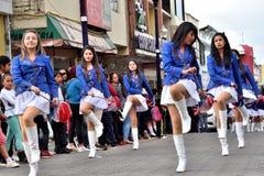 Fiesta de aniversario para la unidad educativa en Otavalo, Ecuador Imágenes de archivo libres de regalías