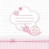 Fiesta de bienvenida al bebé con el caracol Fotos de archivo