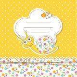 Fiesta de bienvenida al bebé con el caracol Imagenes de archivo