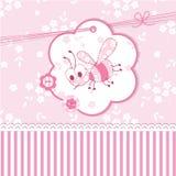 Fiesta de bienvenida al bebé con la abeja Imagen de archivo libre de regalías