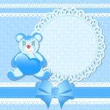 Fiesta de bienvenida al bebé, tarjeta de felicitación para el bebé Imagenes de archivo